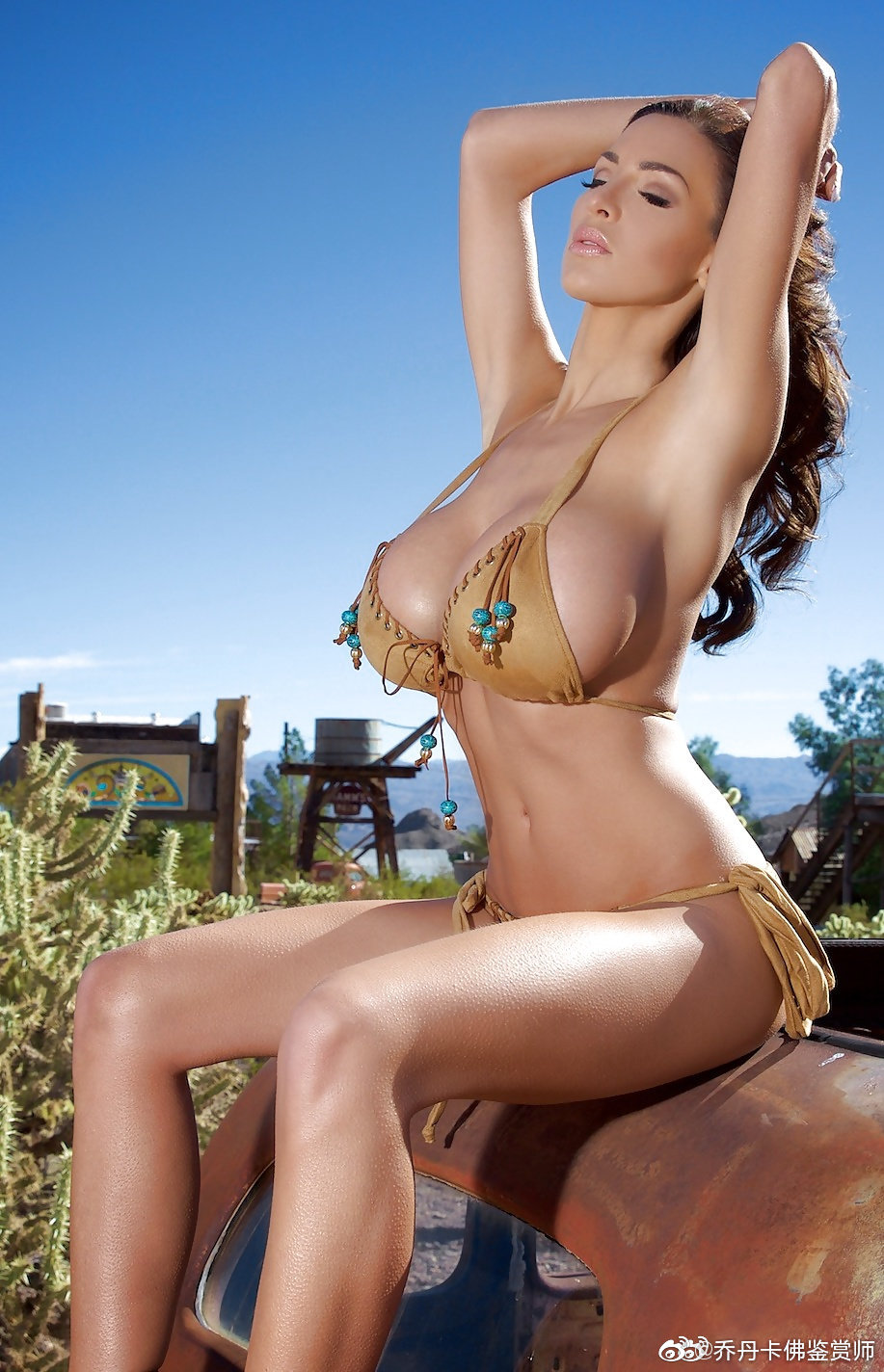 极品胸模乔丹卡佛户外比基尼写真 旷世巨乳波涛汹涌气势胸胸