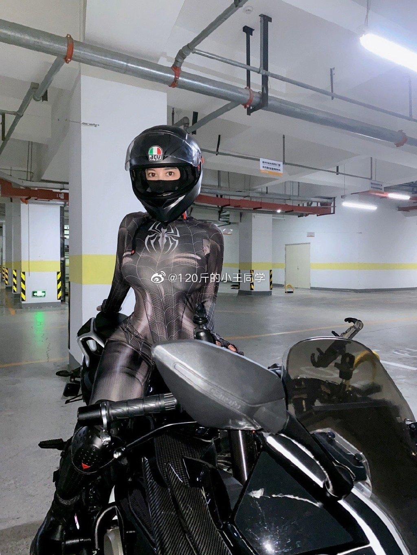蜘蛛侠机车女骑士 这是真正的摩托骑士定义 liuliushe.net六六社 第5张