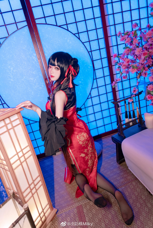 [COS]约会大作战•时崎狂三 新春旗袍 @小奶糕Milky COSPLAY-第3张