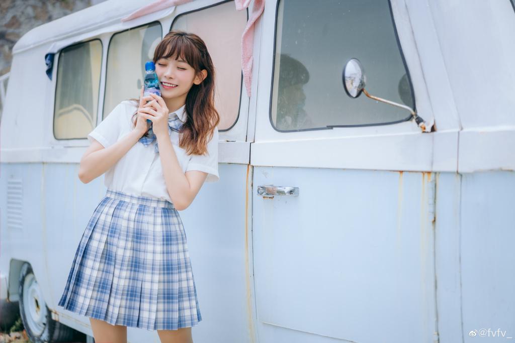 [JK制服]  jk日常 「 海 岛 风 眠 」@fvfv_ 时尚-第1张