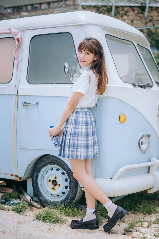 [JK制服]  jk日常 「 海 岛 风 眠 」@fvfv_ 时尚-第3张