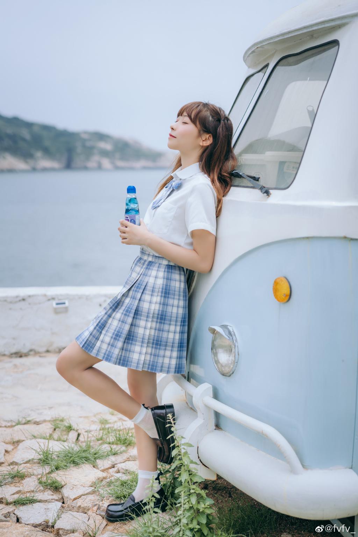 [JK制服]  jk日常 「 海 岛 风 眠 」@fvfv_ 时尚-第8张