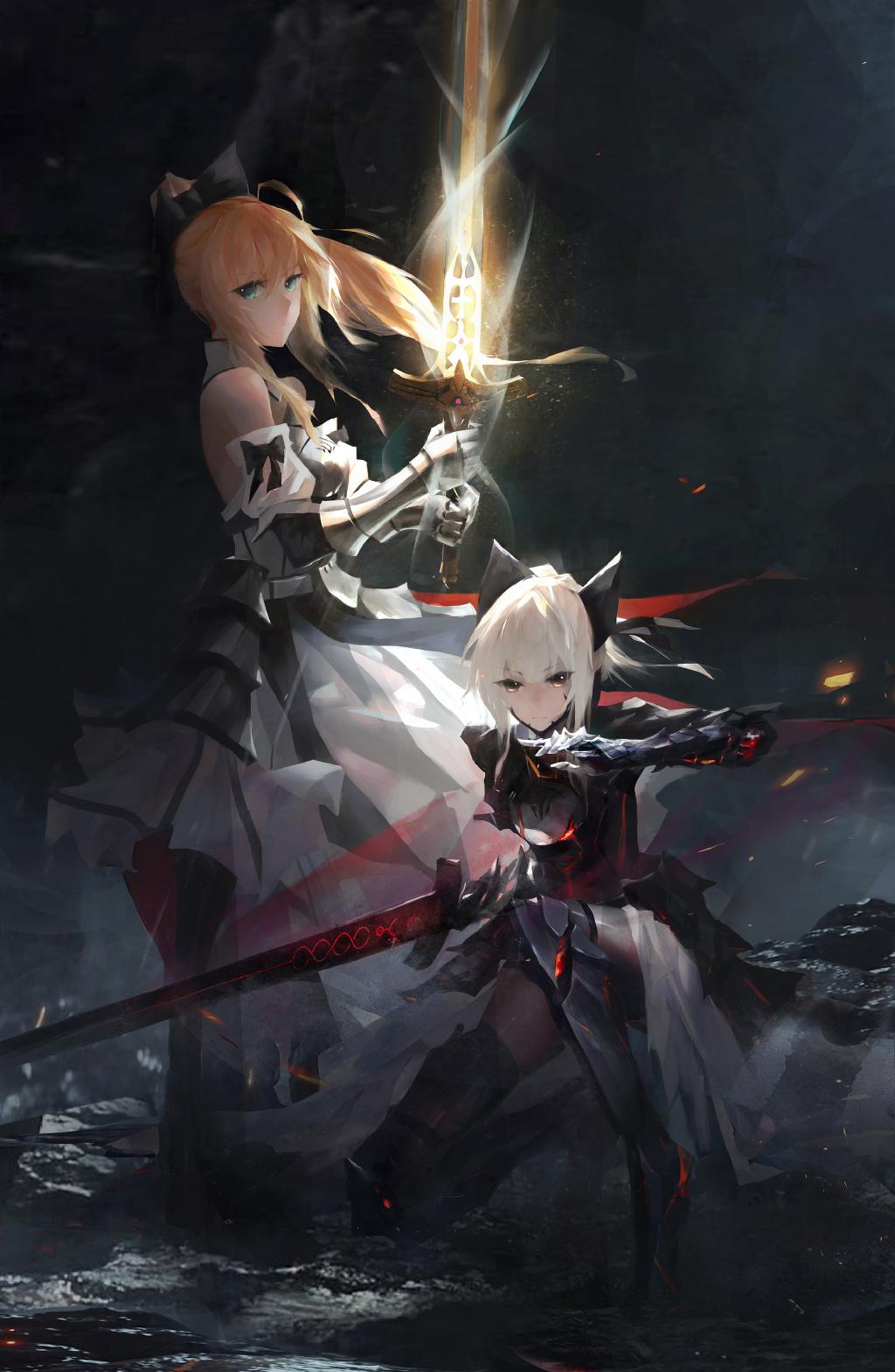 【P站美图】纯白的骑士姬!阿尔托莉雅 Saber Lily 壁纸特辑- ACG17.COM