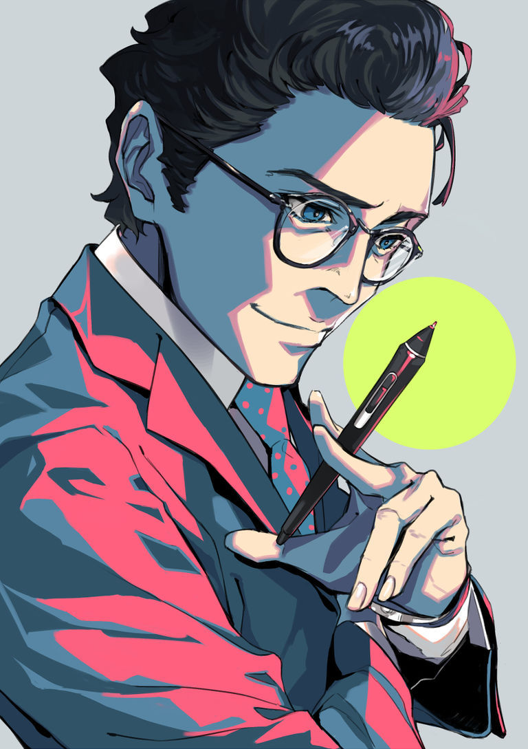 【P站美图】黑发眼镜男子插画特辑 -  - 越过镜片也令人为之著迷 -