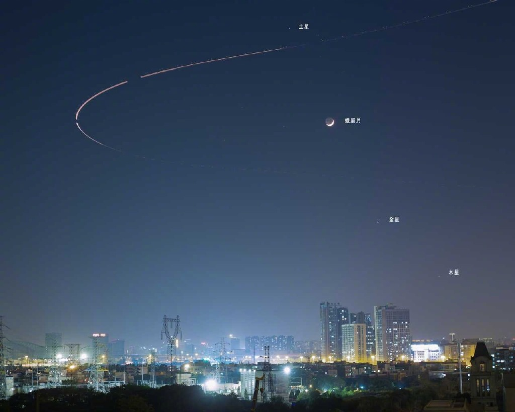 昨晚百年难现的天文奇观——四星连珠你们看到了吗? liuliushe.net六六社 第3张