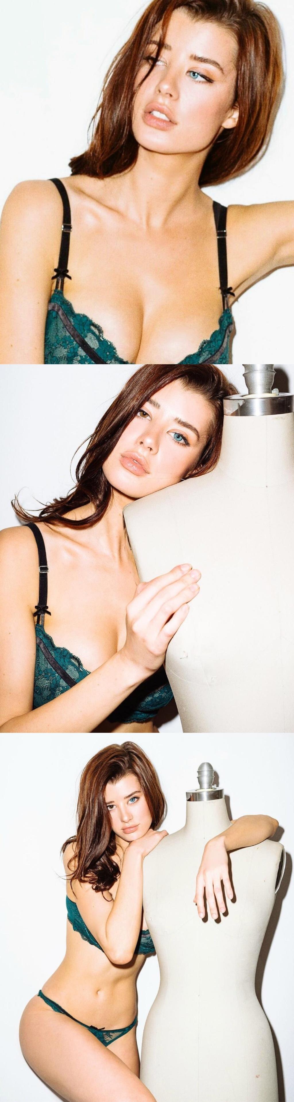 美国模特Sarah McDaniel,天生异色瞳!
