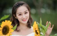 西安黄河中学美女校花鲁江琴写真图片