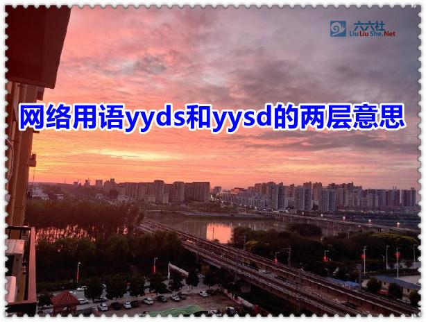 网络用语yyds和yysd的两层意思