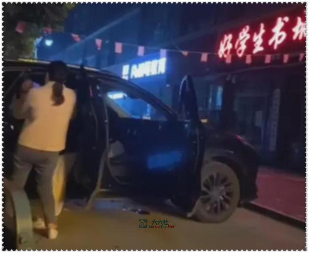 山东菏泽巨野好学生书城门口的SUV