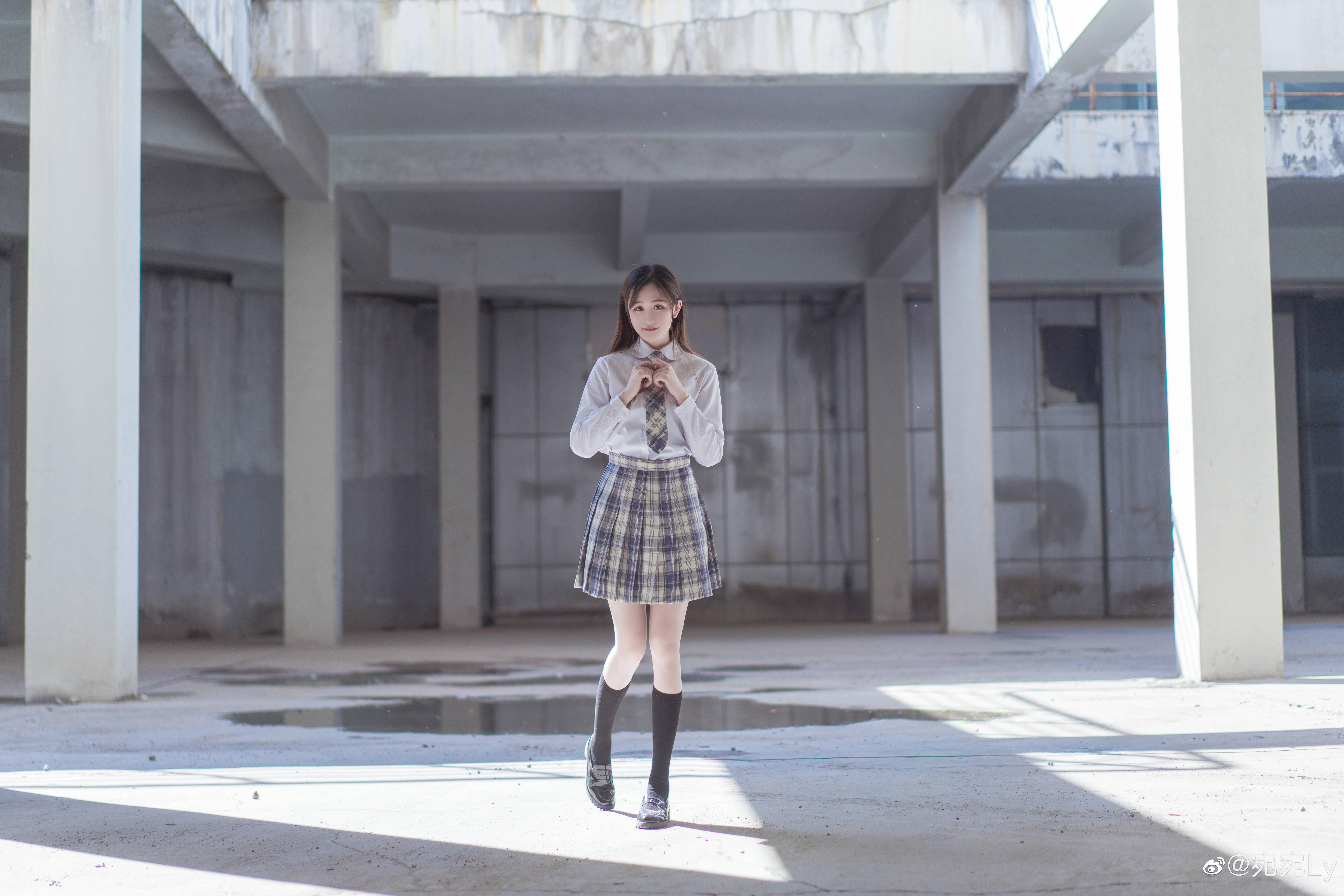 [JK写真]好想看你穿jk的样子 @宛宛Ly 时尚-第1张