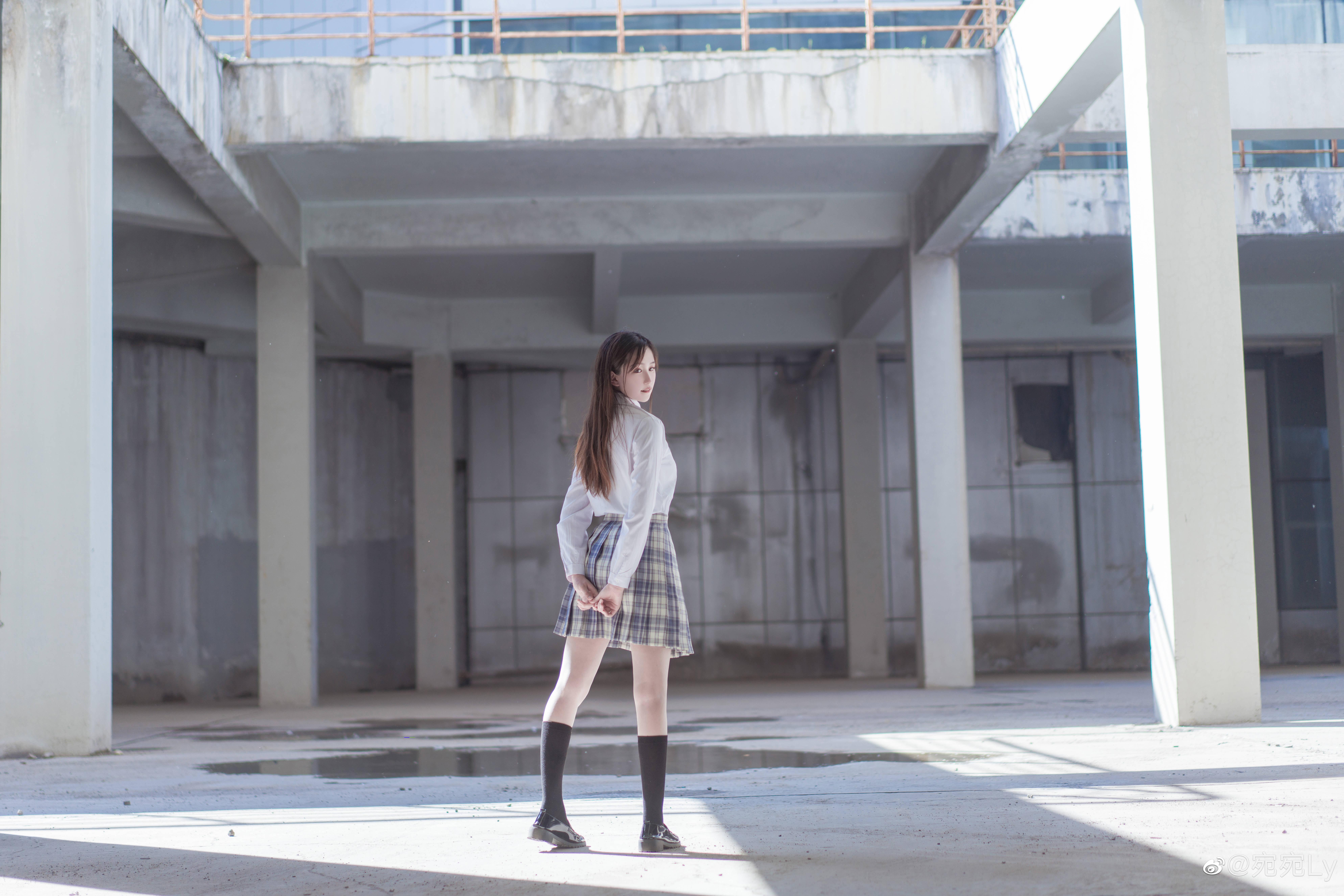 [JK写真]好想看你穿jk的样子 @宛宛Ly 时尚-第3张