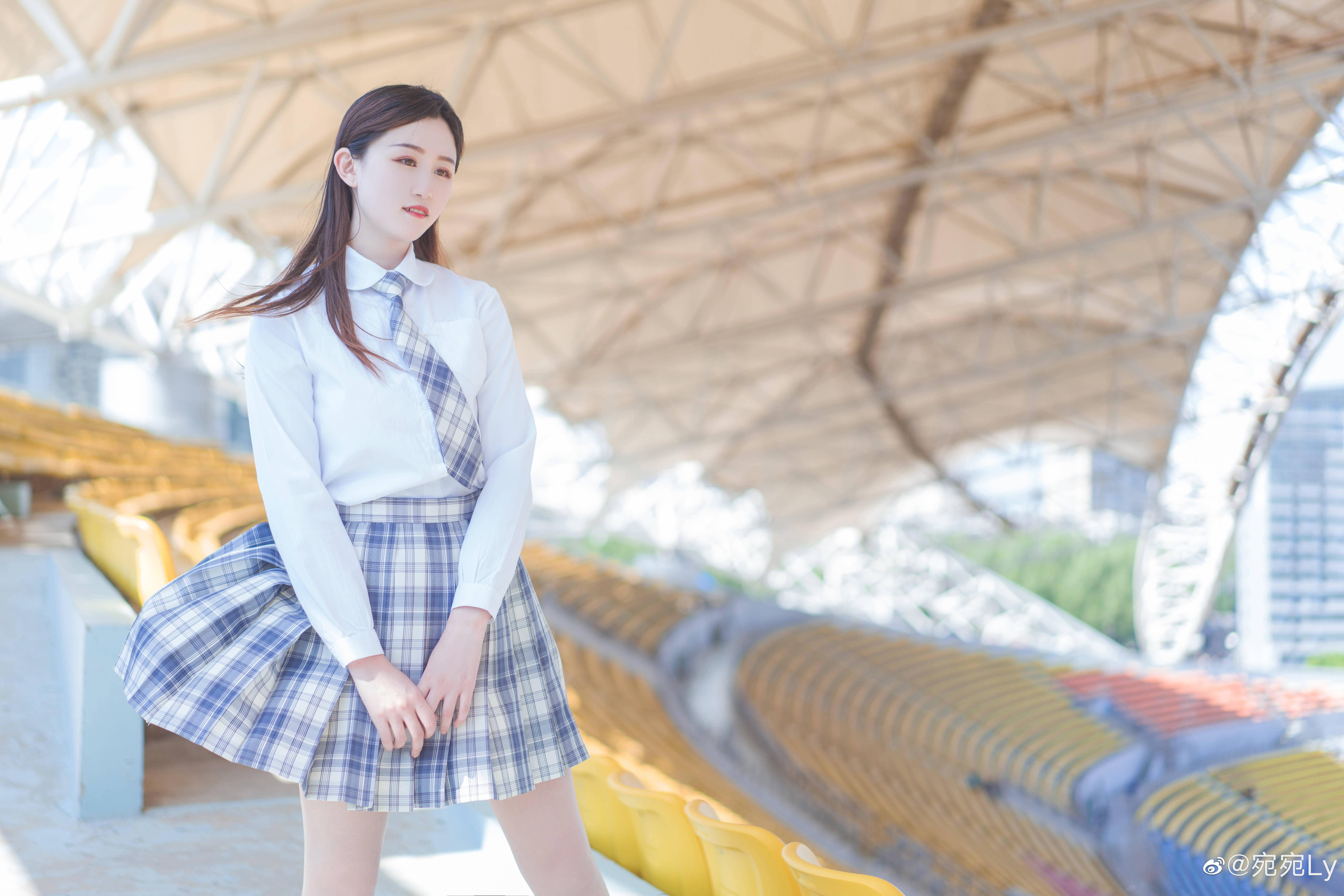 [JK写真]好想看你穿jk的样子 @宛宛Ly 时尚-第6张