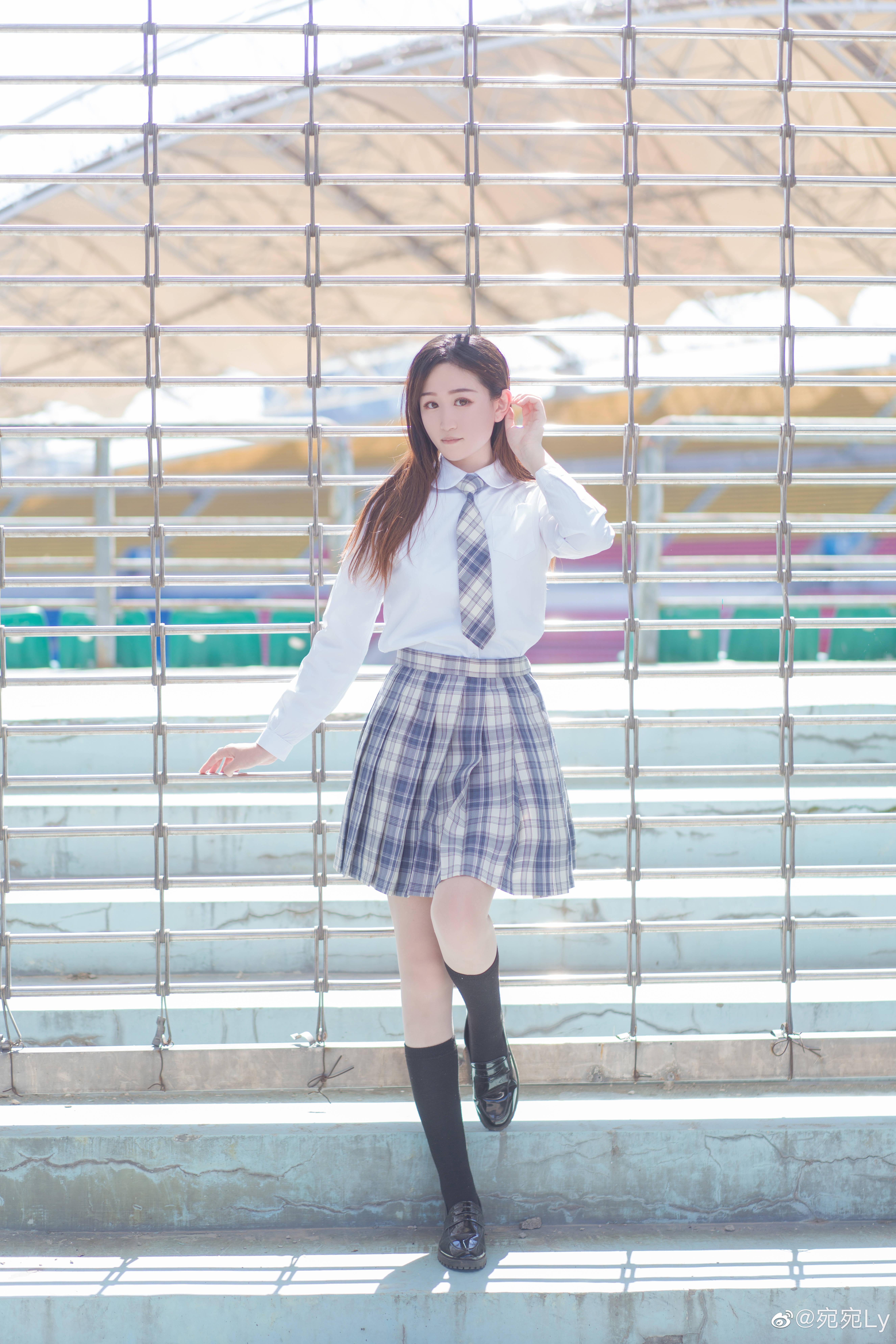 [JK写真]好想看你穿jk的样子 @宛宛Ly 时尚-第9张
