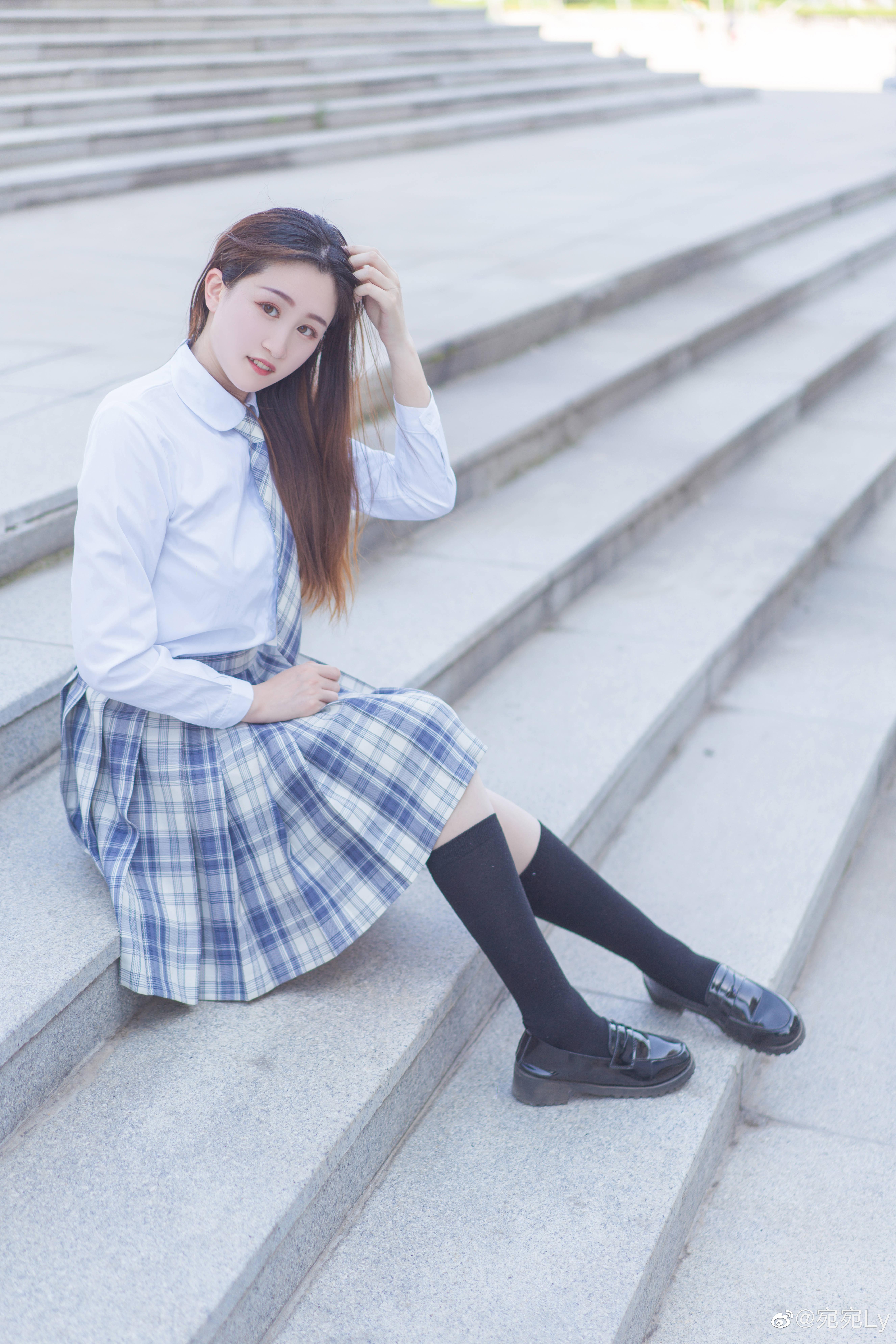 [JK写真]好想看你穿jk的样子 @宛宛Ly 时尚-第7张