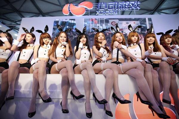 2015上海Chinajoy开幕后,秀胸不成反秀腿