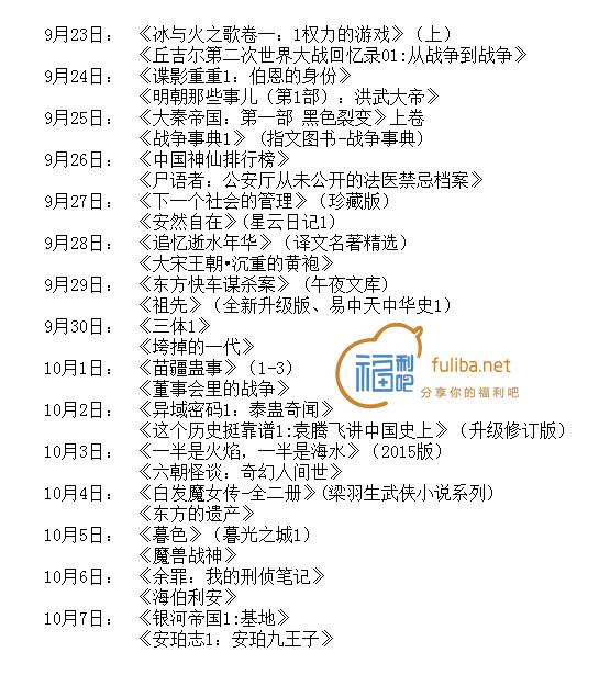中国亚马逊Kindle电子书,国庆期间每天免费送两本