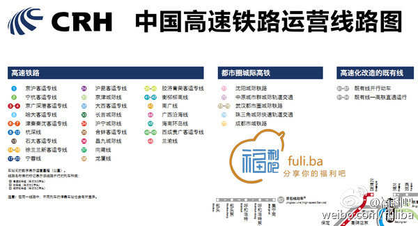 高手在民间,中国高铁全网运行图2014年2月
