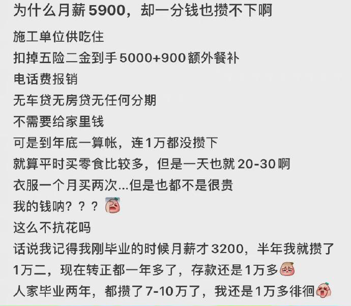 工资月入5900,现在一分钱没存,该怎么存钱? liuliushe.net六六社 第1张