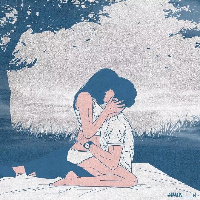韩国插画师kwon___a笔下的情侣亲密照 涨姿势 第1张