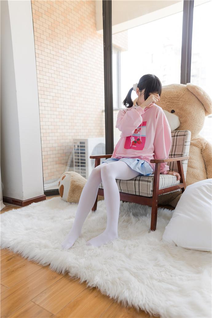 喵写真-粉色系双马尾白丝萝莉图集 喵写真