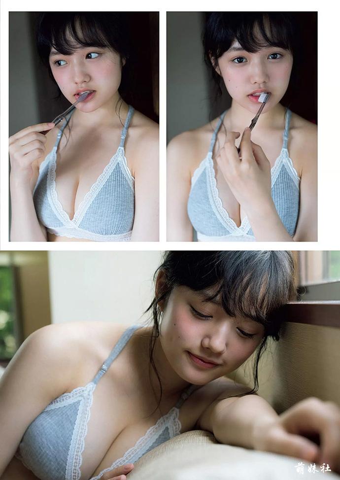 17岁的F杯萝莉安藤咲樱,写真集初恋般的感觉