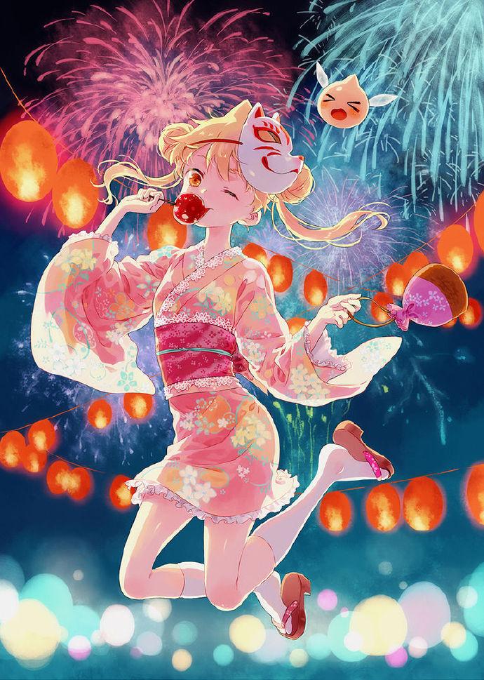 每日插画精选:风韵的浴衣女子的插画作品特辑 福利吧 第4张