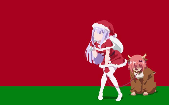 圣诞节快乐,二次元圣诞主题美图 福利吧 第3张