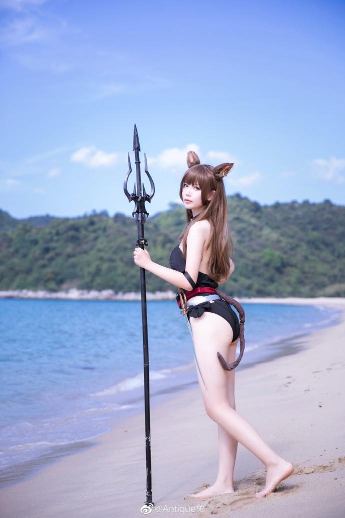 Antique兔cosplay明日方舟天火 第6张