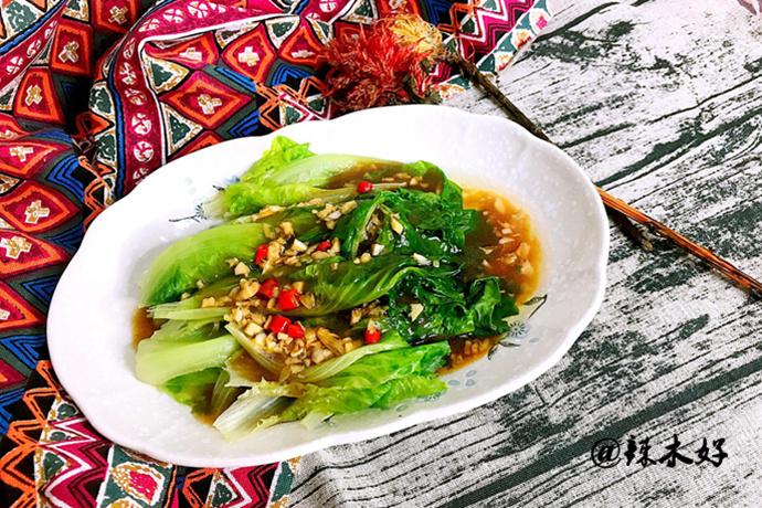 冬天减肥就要吃此菜,物美价廉,5 分钟搞定蒜蓉生菜,瘦子别贪吃!