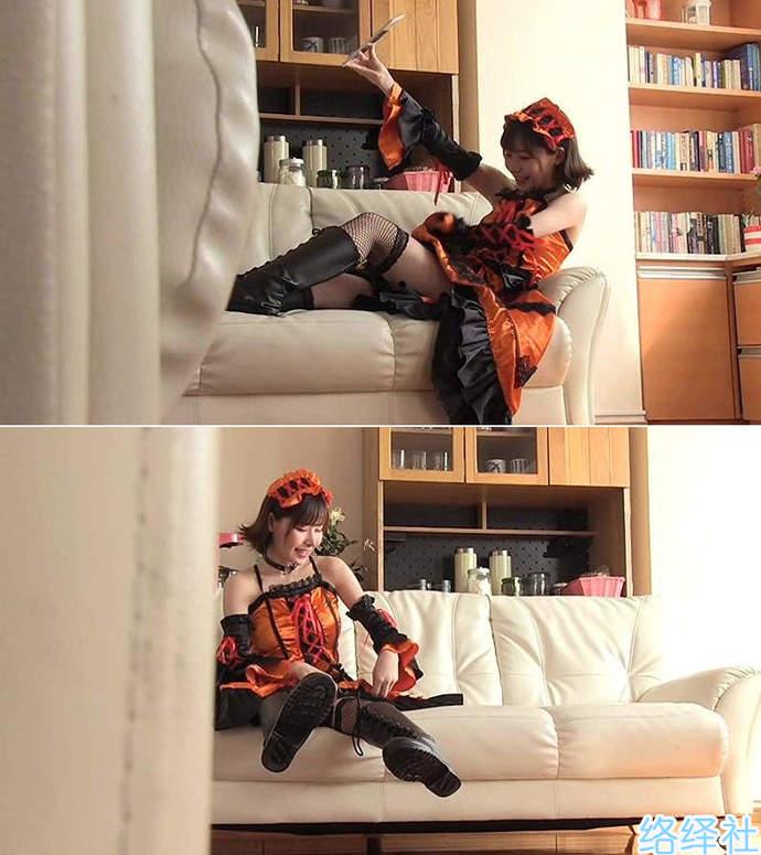 美女机器人深田咏美cos女仆作品 满足观众对变装痴女的幻想
