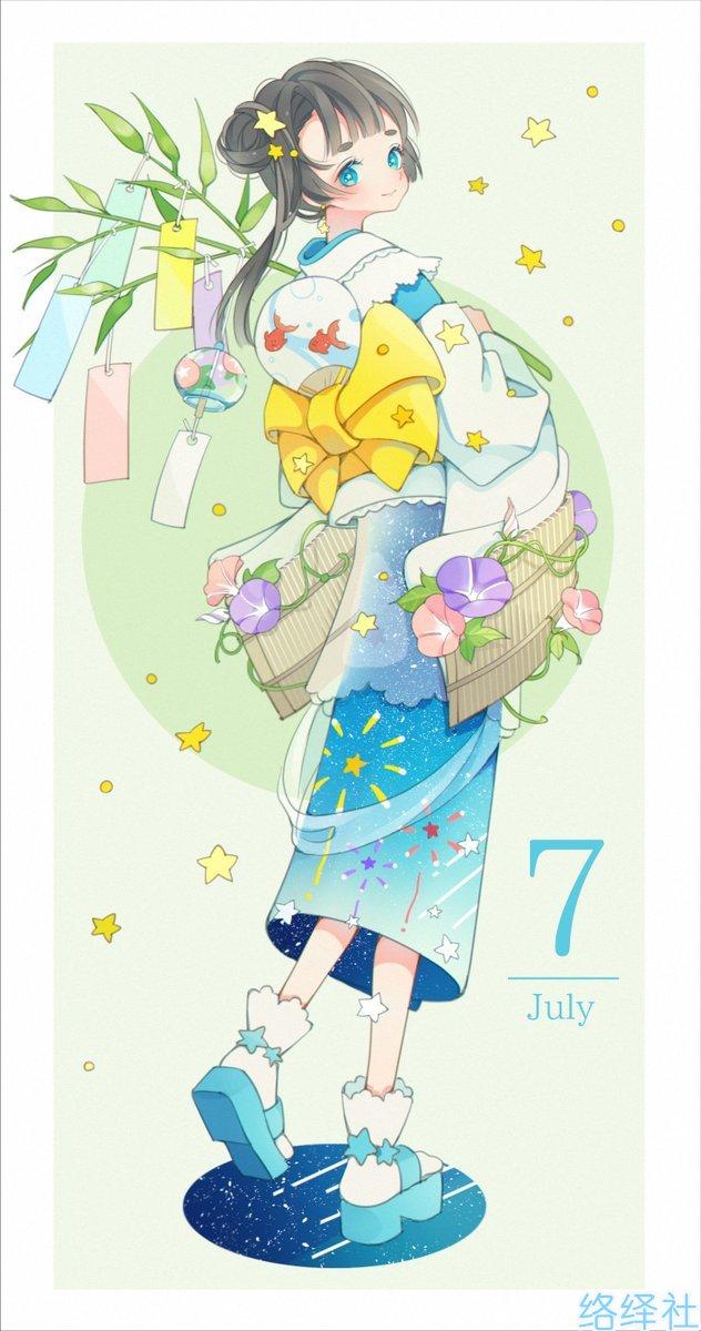 超可爱12个月份的拟人插画,用二次元感受季节变化!