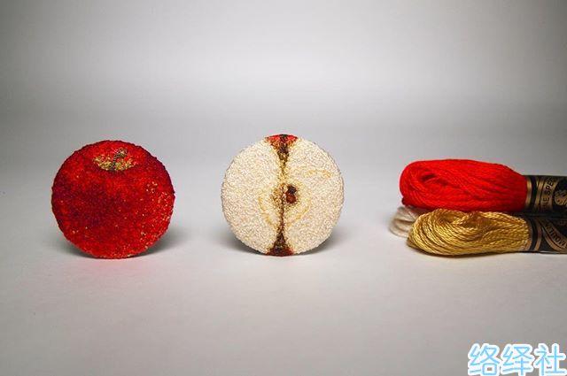 日本手工刺绣艺术家ipnot的拟真美食让人想要咬一口!