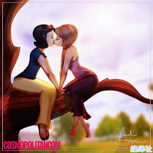 同性才是真爱,打破传统的迪士尼动画形象同人作品