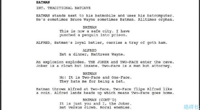 AI机器人写的蝙蝠侠电影剧本?脑洞已经超越人类啦!