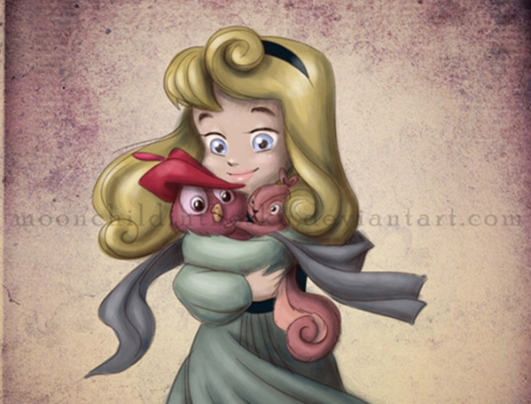 迪斯尼公主与吉祥物,她们从小就跟我们玩得不一样!