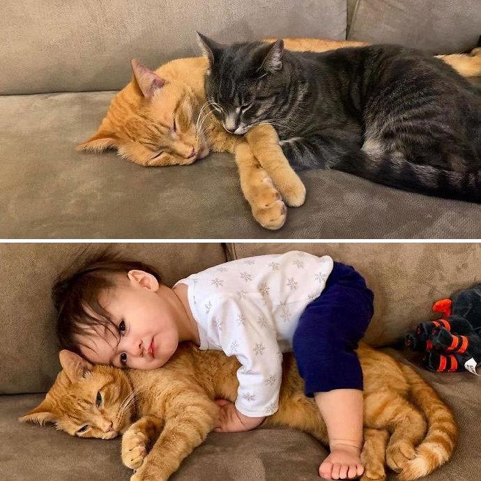 甜蜜的负担,有孩子前和有孩子后的对比照反差很大!