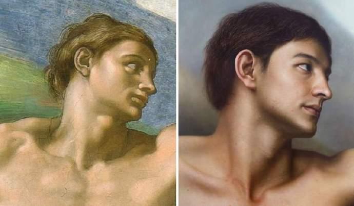 韩国艺术家进行名画人物的二次创作,拟真到让人赞叹!