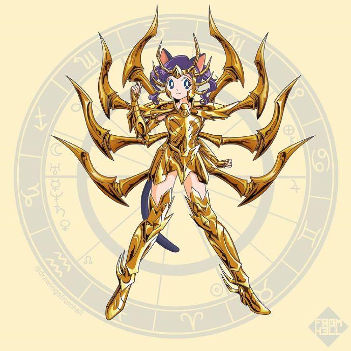 女力小宇宙爆发!黄金圣衣版美少女战士镇守十二宫