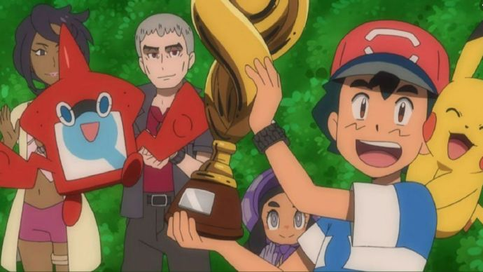 有生之年动画《精灵宝可梦》小智拼了22年终于获得冠军!