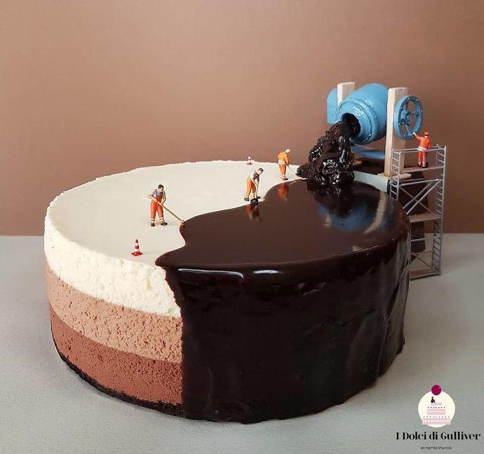 好吃又有趣!意大利糕点大师用甜点打造出「小人国」