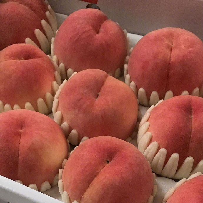 新鲜桃子图片,口水快流下来了