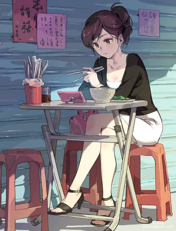 绘师手绘台湾OL诱惑日常生活 OL优雅身段令人心动-宅男说