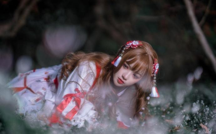 古典美少女cosplay作品,青春靓丽