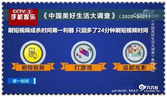 刷短视频成杀时间第一利器 只因多了24分钟刷短视频时间 liuliushe.net六六社 第1张