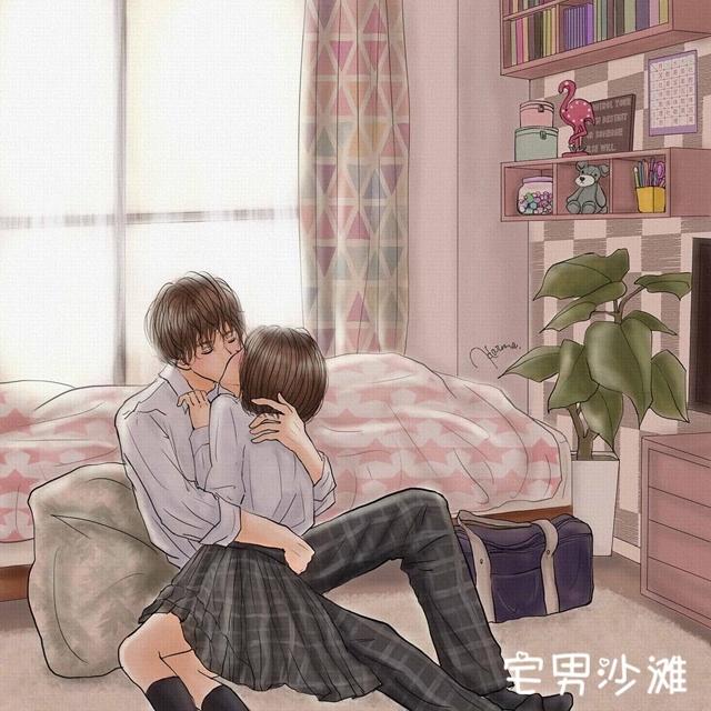 日本画家平泉春奈制作《情侣日常插画》,看完脸红心跳的情侣间甜蜜日常