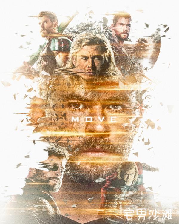 《复仇者联盟4:终局之战》上映,粉丝自制初代复仇者个人海报