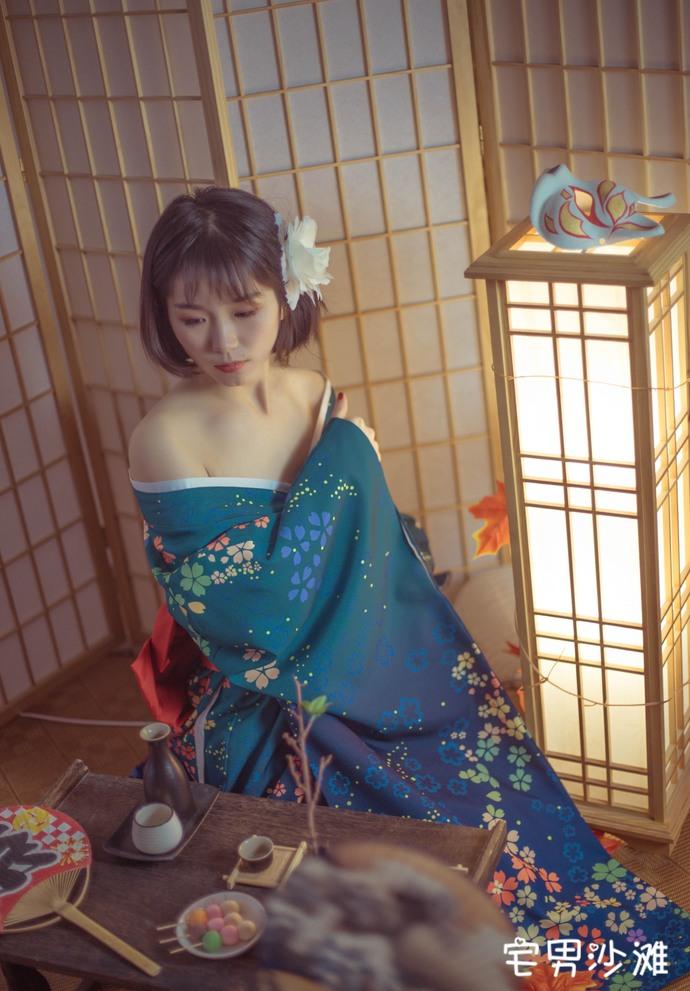 【妹子图】[BoLoli波萝社] 美女模特「库库」,着物の少女Cos福利福利写真