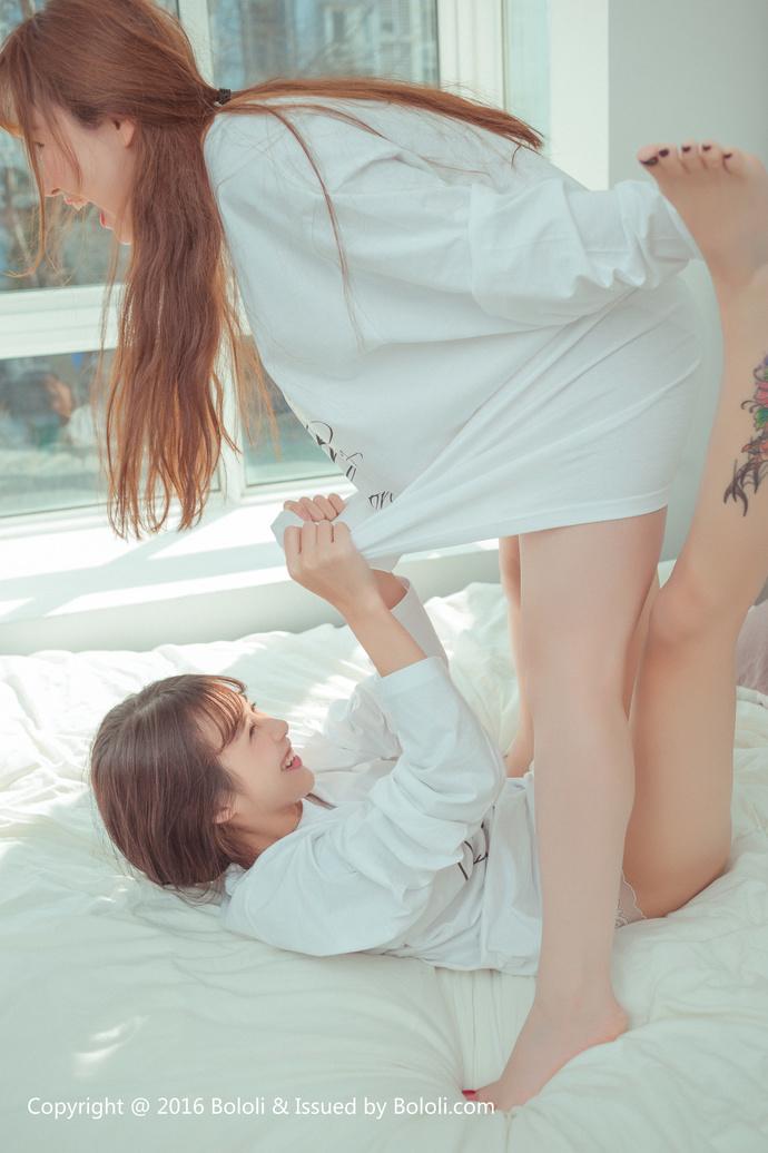 【有百合】波萝社 柳侑绮&夏美酱 姐妹情深(免费) 网红模特