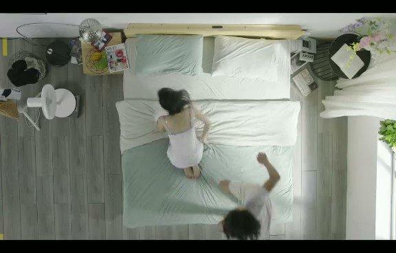 京東某床上用品宣傳視頻2分半中,莫名其妙的就火了