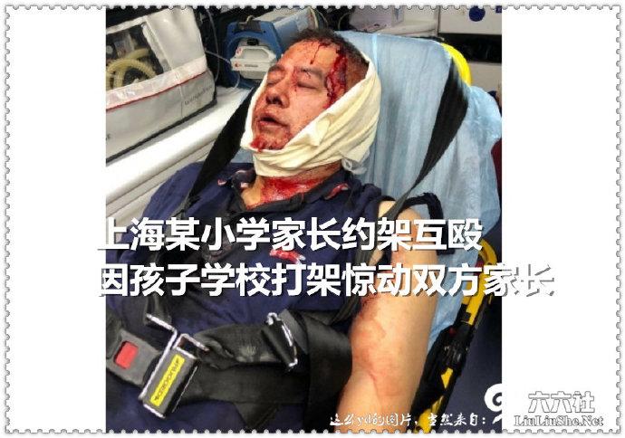 上海某小学家长约架互殴,因孩子学校打架惊动双方家长 liuliushe.net六六社 第1张